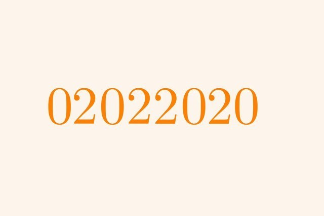 Palindrome date - 02022020