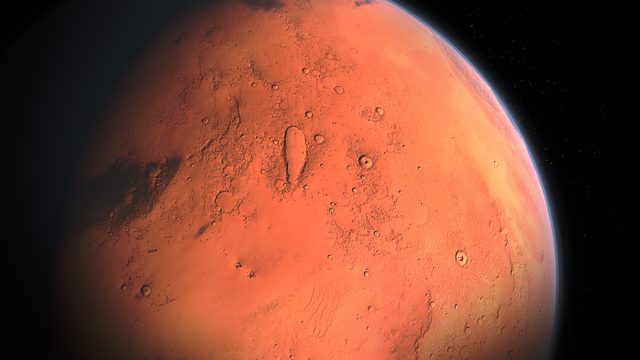 Mars as viewed from space