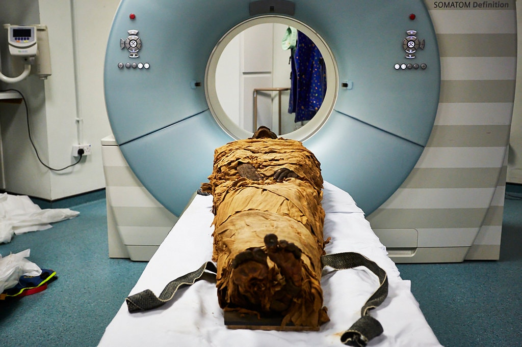 Nesyamun Mummy Before CT Scan