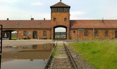 Rail road into Auschwitz
