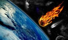 Meteor strike on Earth