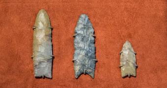 Clovis spear points