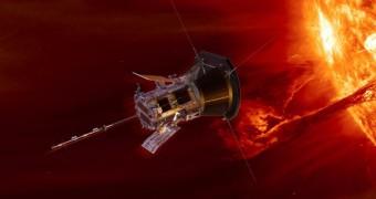 Parker solar probe near the Sun