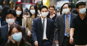 People wearing face mask in China