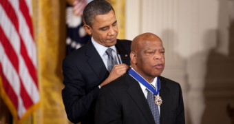 John Lewis being awarded the Presidential Medal of Freedom