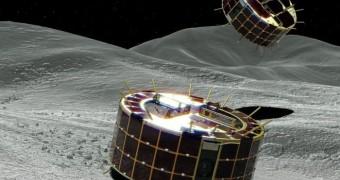 Landing on an asteroid