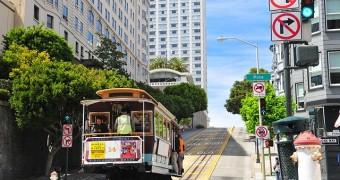 City street in SF