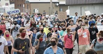 Protest for Floyd killing
