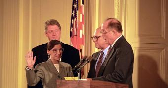 Ruth Ginsburg sworn in