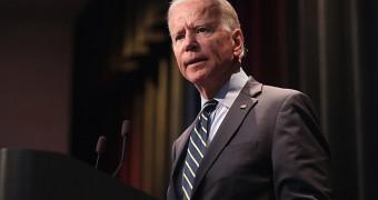 Joe Biden standing at a podium