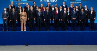 World leaders at NATO Meeting