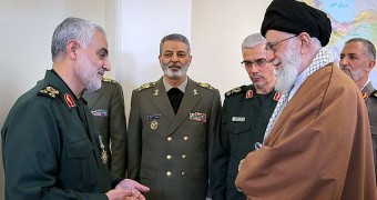 General Soleimani with Iran's Supreme Leader
