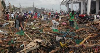 Destruction from hurricane